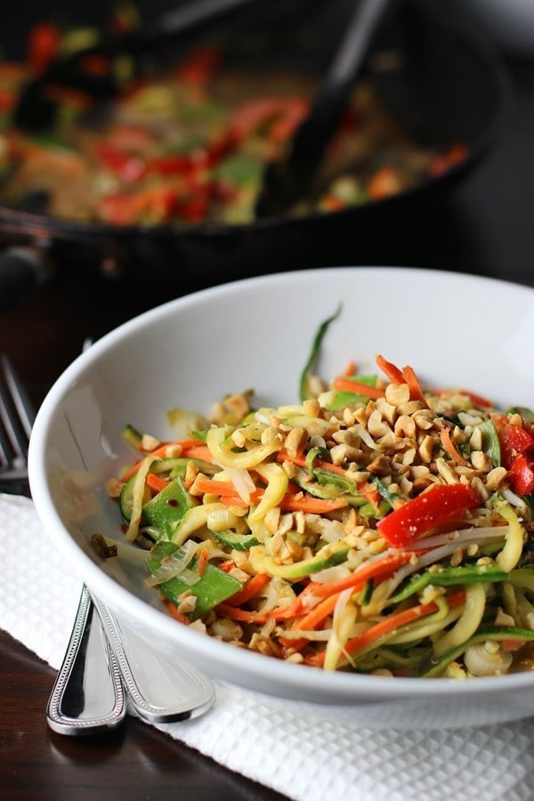 Asian Zucchini Noodles with Peanut Sauce 2