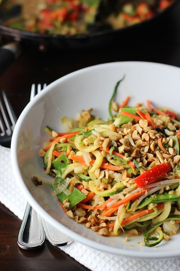 Asian Zucchini Noodles with Peanut Sauce 4