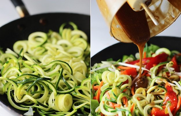 Asian Zucchini Noodles with Peanut Sauce 5