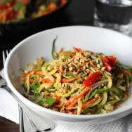 Easy Asian Zucchini Noodles with Peanut Sauce