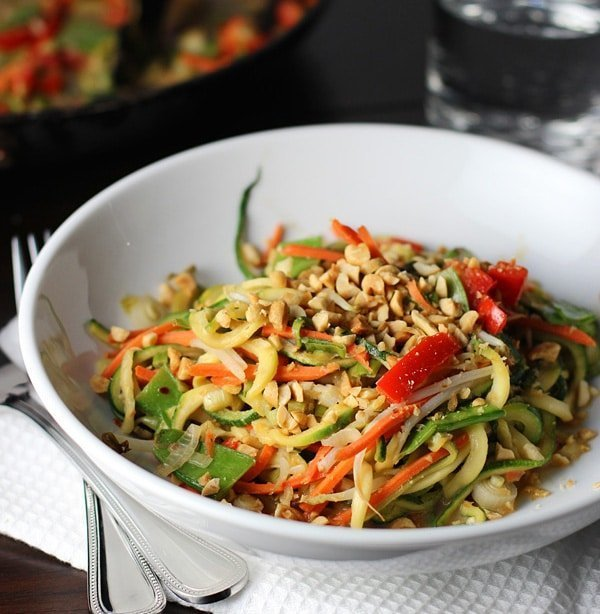 Easy Asian Zucchini Noodles with Peanut SauceCooking for Keeps
