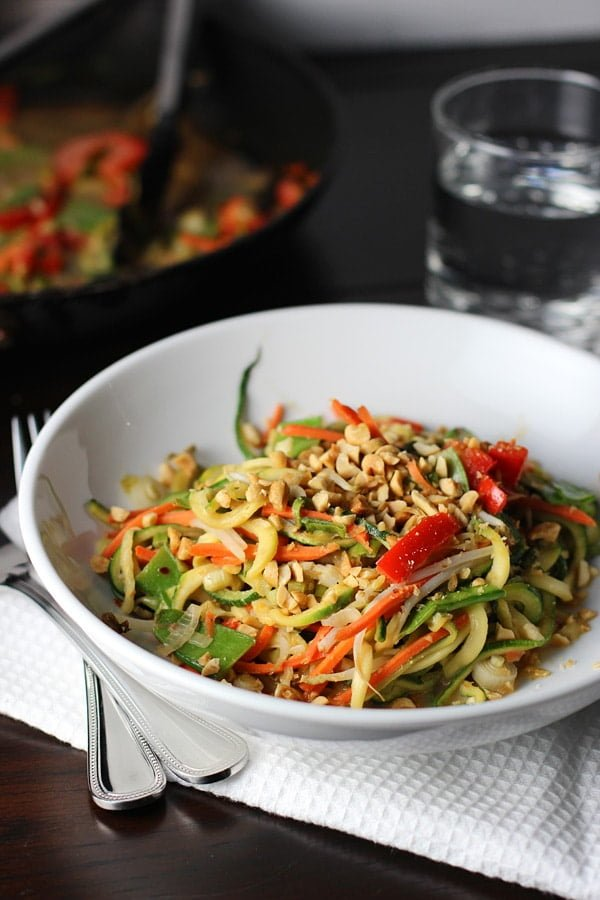 Asian Zucchini Noodles with Peanut Sauce