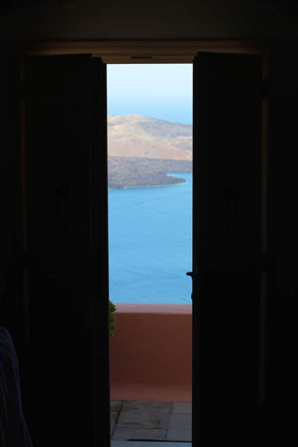 Santorini Greece View Nefeles Suites via cookingforkeeps.com