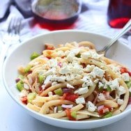 Greek Pasta with Tomatoes, Wine and Feta + Pictures from Greece