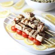 Swordfish Souvlaki (Lemon and Garlic Swordfish Skewers)