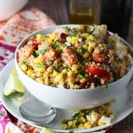 Lobster, Corn and Quinoa Salad with Lime Vinaigrette