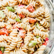 The Best Creamy Pasta Salad