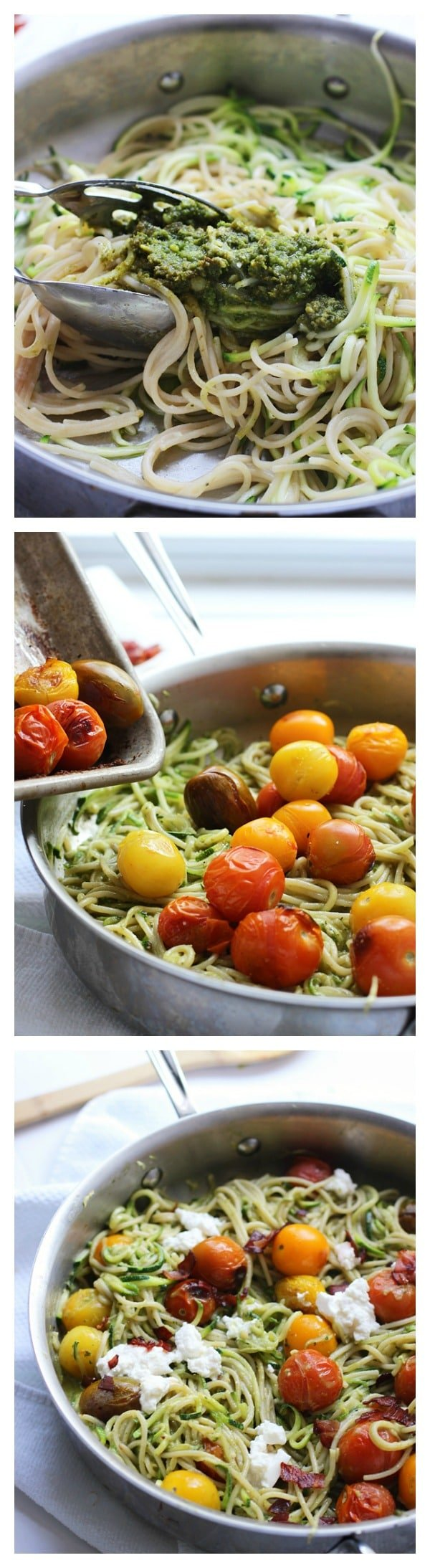 Whole-Wheat-and-Zucchini-Spaghetti-with-Basil-Almond-Pesto-Blistered-Tomatoes-and-Crispy-Proscuitto