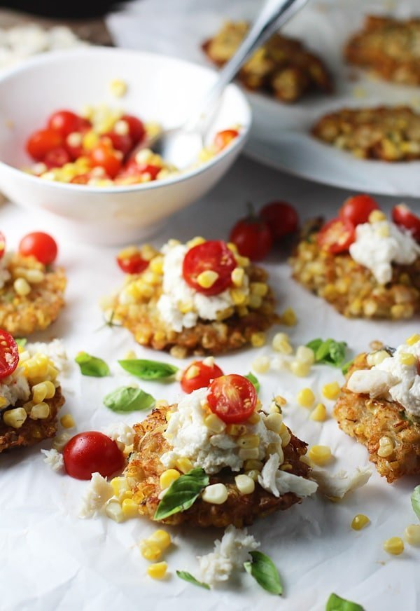 Grilled Corn and Crab Fritters