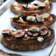 Roasted Fig, Blue Cheese and Prosciutto Tartines