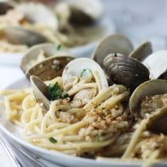 30 Minute Spaghetti and Clams with Brown Butter and Garlic Breadcrumbs