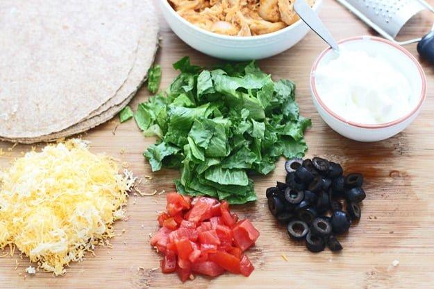 Chicken Enchilada Taco Quesadillas