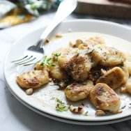 Crispy Gnocchi with Brown Butter, Thyme and Toasted Hazelnuts