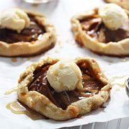 Individual Caramel Apple Galettes with Brown Butter