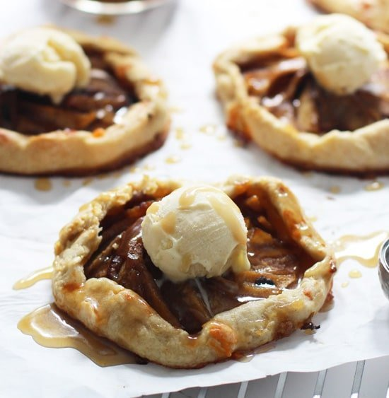 Individual Caramel Apple Galettes with Brown Butter ...