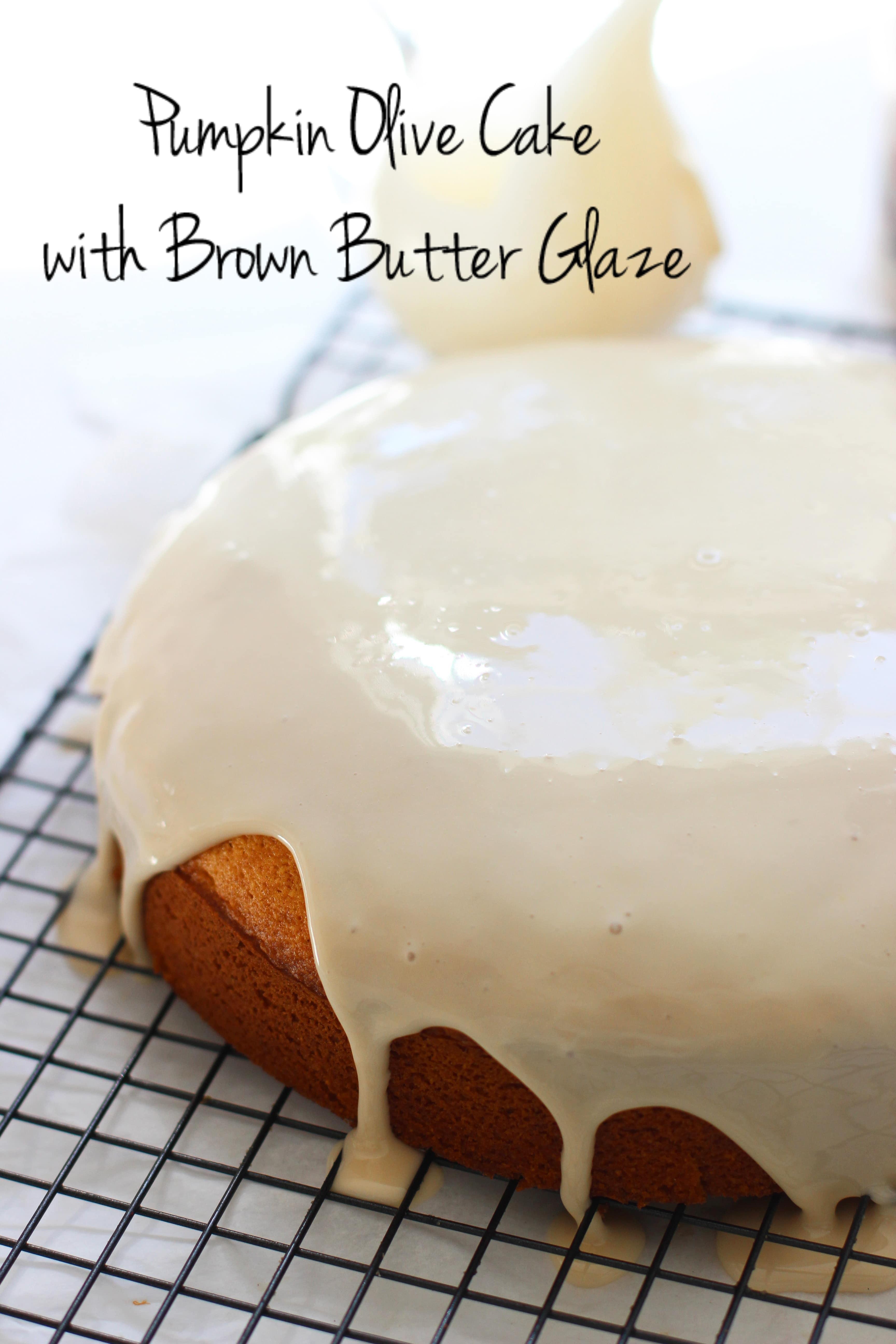 Pumpkin Olive Oil Cake with Brown Butter Glaze 5