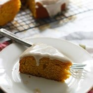 Pumpkin Olive Oil Cake with Brown Butter Glaze