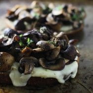 Mushroom, Brie and Thyme Melts