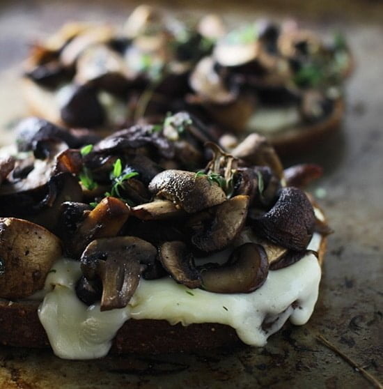 Triple Mushroom and Brie Melts PS1