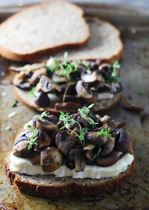 Triple Mushroom and Brie Melts