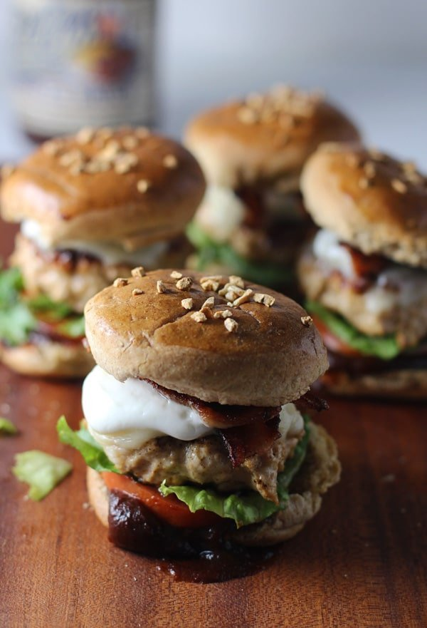 Skinny Barbecue Bacon Chicken Sliders