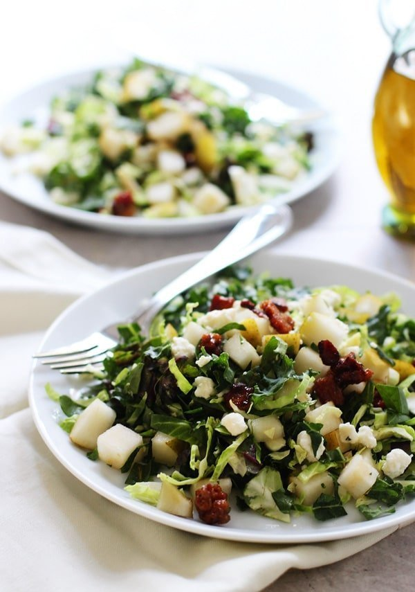 ... , Kale and Chard Salad with Candied Pancetta, Pears and Blue Cheese