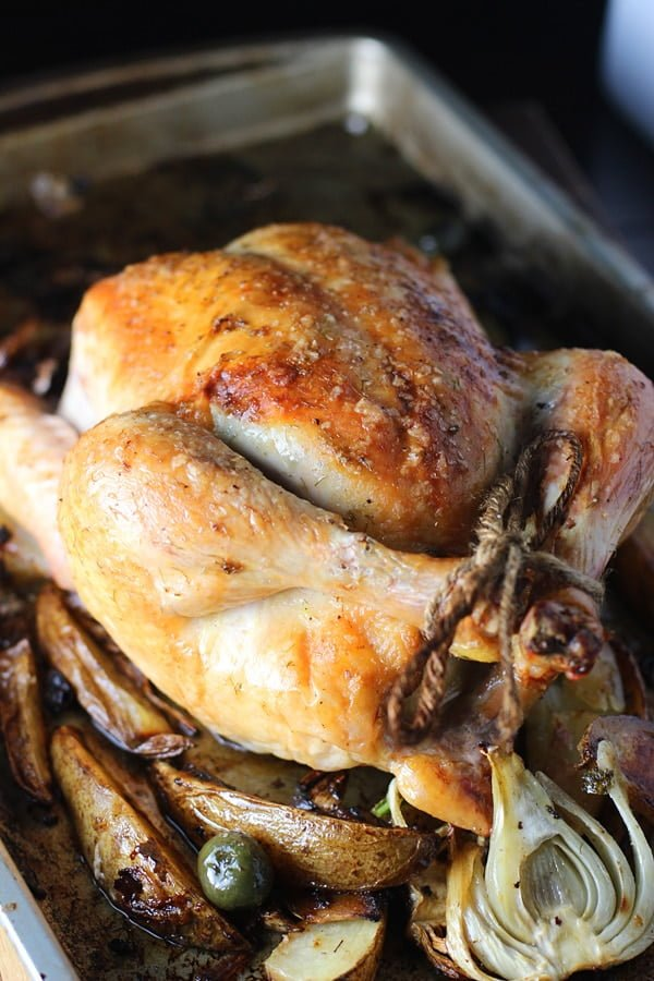Roast Chicken with Fennel and Olives 2