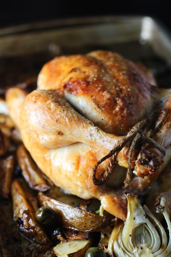 Pan-Roasted Chicken With Olives And Lemon Recipe — Dishmaps