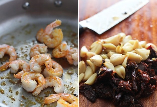 Shrimp Tagliatelle with Roasted Garlic, Sun-dried Tomatoes and Sweet Vermouth Cream Sauce 5