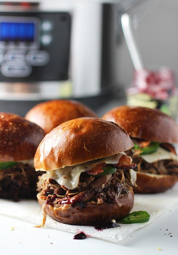 Slow-Cooker Blackberry and Jalapeno Chicken Sandwiches