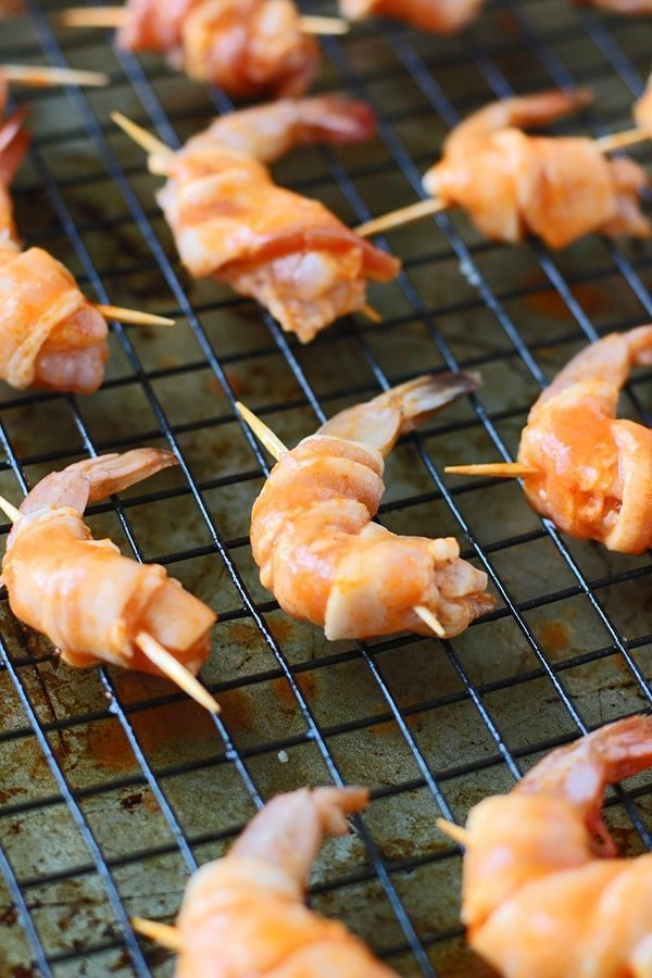 3 Ingredient Bacon Wrapped Buffalo Shrimp | Cooking for Keeps @cookingforkeeps