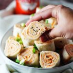 Five Ingredient Buffalo Chicken Pinwheels