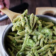 Cheesy Whole-Wheat Baked Penne with Broccoli Pesto