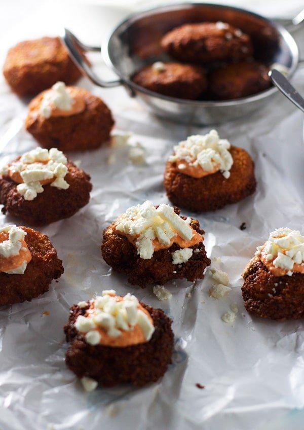 Shrimp and Roasted Red Pepper Falafels