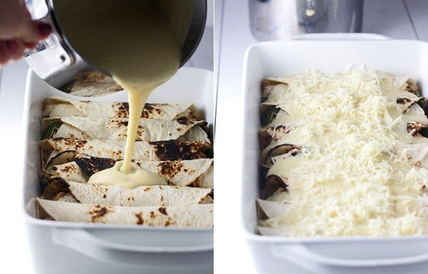 Sweet and Spicy Pomegranate and Poblano Chicken Enchiladas 7