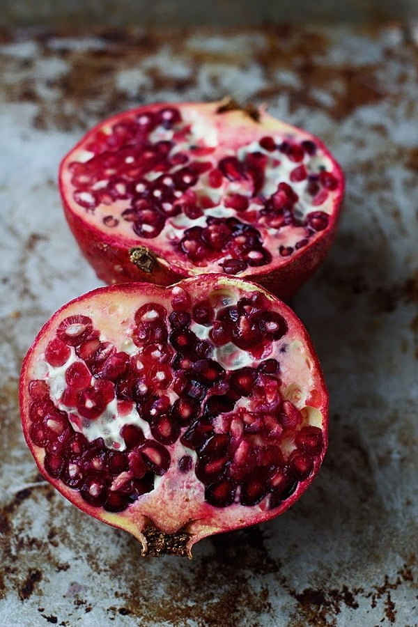 Whipped Goat Cheese with Honey and Pomegranates - Ten minute prep for this elegant app!   cookingforkeeps.com #goatcheese #holidayentertaining