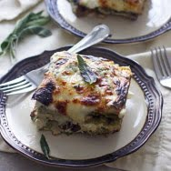 Triple Mushroom Lasagna with Ricotta, Sage and Fontina