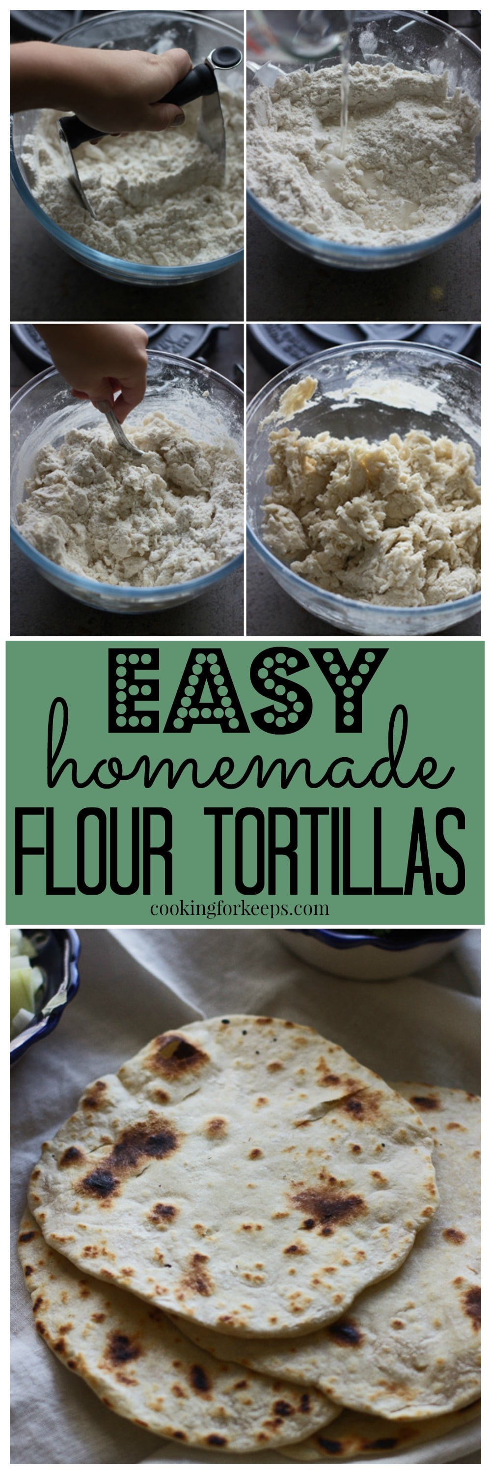 You'll never believe how easy homemade flour tortillas are to make!