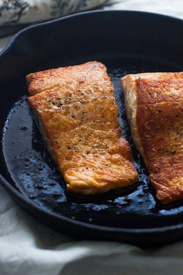 Crispy Salmon with Roasted Beets and Garlicky Lemon Yogurt Sauce 3