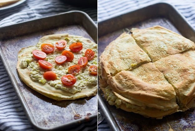 Feta and Leek Stacked Crepes 2