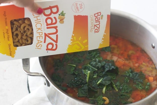 Kale and Chickpea Minestrone