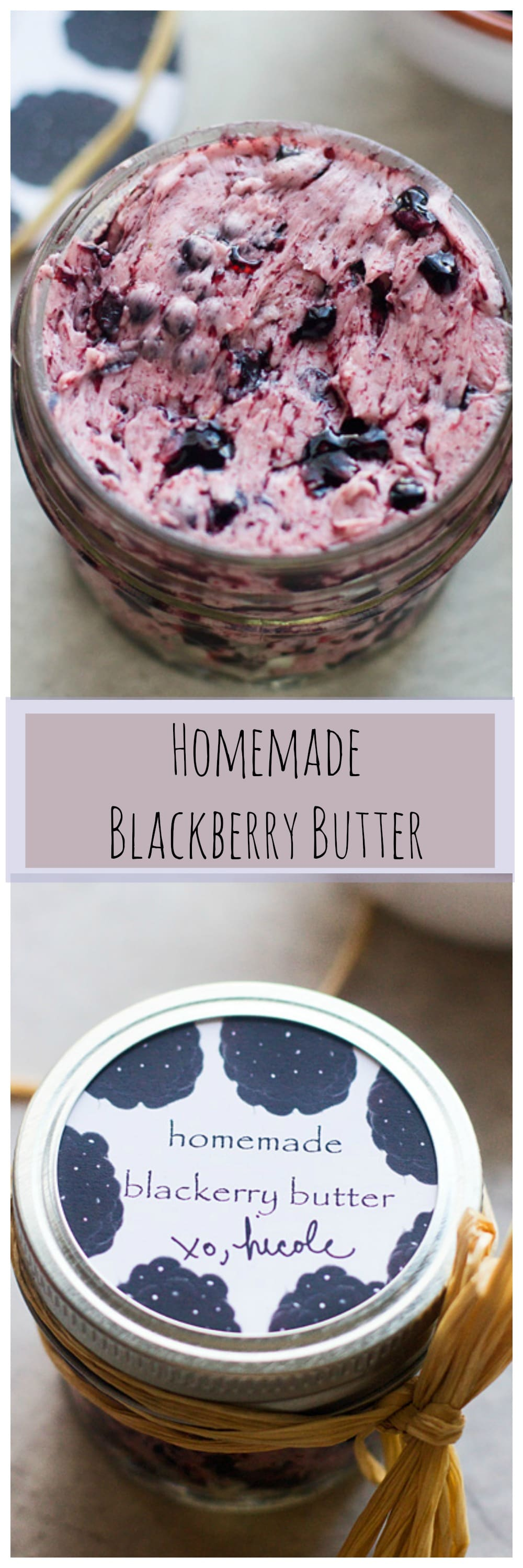 Homemade Blackberry Butter -- Perfect to spread to breakfast breads and the perfect DIY gift!.