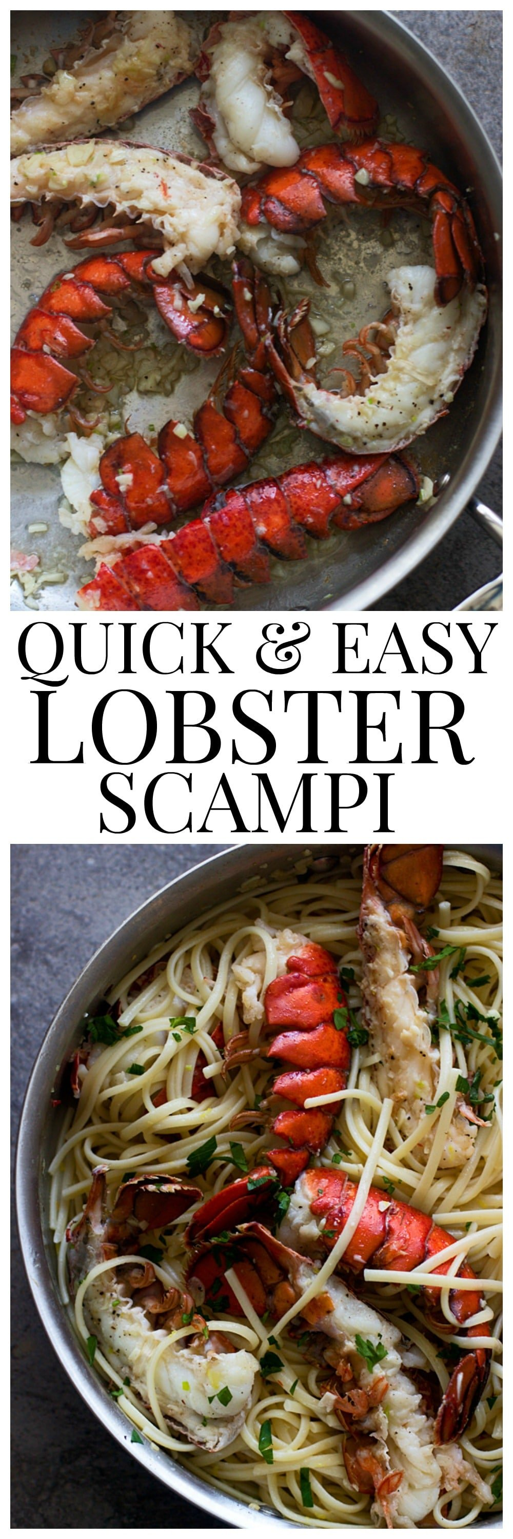 Quick and Easy Lobster Scampi