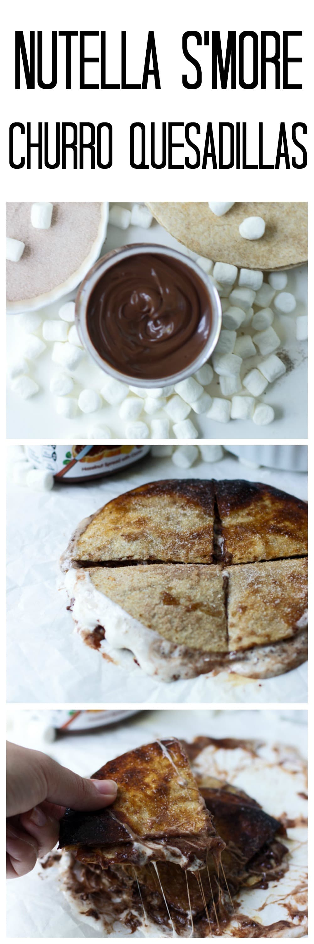 Nutella S'more Churro Quesadilla