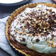 Peanut Butter French Silk Tart with Ritz Cracker Crust