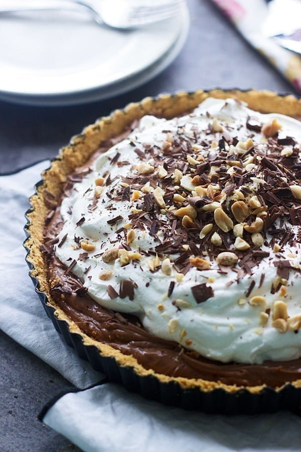 Peanut Butter French Silk Tart with Ritz Cracker Crust - Cooking for ...