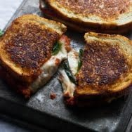 Pizza Margherita Grilled Cheese 9