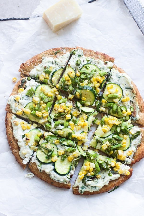Spring Flatbreads with Herbed Ricotta and Homemade Whole-Wheat Crust 10