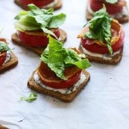 Mini BLT Sandwiches with Basil Lemon Mayo