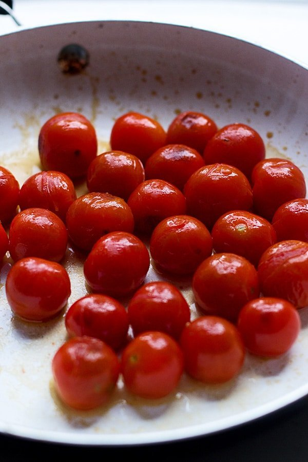 Easy Cherry Tomato Sauce with Angel Hair, Basil and Ricotta - So simple and so versatile!